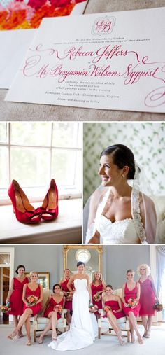 Love the colors in this Virginia wedding