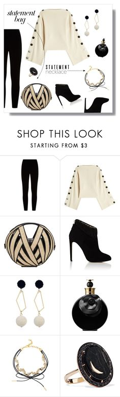 """""""Make A Statement!"""" by tre0911 ❤ liked on Polyvore featuring Eileen Fisher, Petar Petrov, Perrin, Chloe Gosselin, Valentino, BaubleBar, Andrea Fohrman and statementbags"""