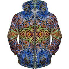 Psychedelic Womens' All Over Print Zip Up Hoodie Psychedelic Pattern, Weed Art, Original Artwork, Zip Ups, Zipper, Eye, Hoodies, Lady, Unique