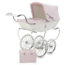luxury doll pram to store small toys, stuffed animals and baby dolls.  much more posh than traditional toy box. #brattdecor