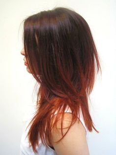 burgundy to copper ombre by Stephen Nathaniel Jean