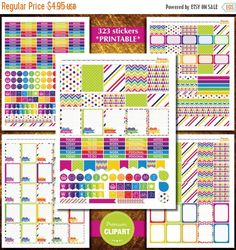 Organize your week in your Erin Condren Planner with these beautiful ready to print sticker kit! * INSTANT DOWNLOAD…