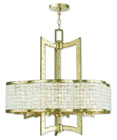 Livex Lighting Grammercy Hand Applied Winter Gold Chandelier 50576-28
