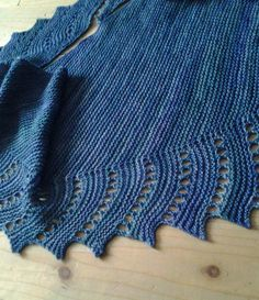 Free Knitting Pattern for Close to You Shawl