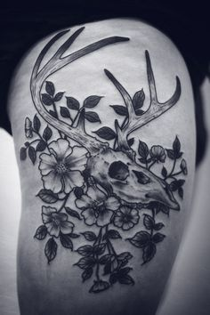 thanks amy!!!! deer skull and wild roses, color soon!