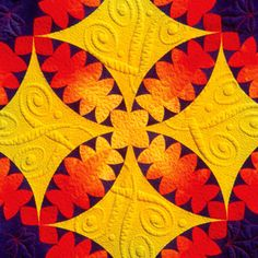 Free–motion Machine Quilting with Trapunto, a class by Philippa Naylor