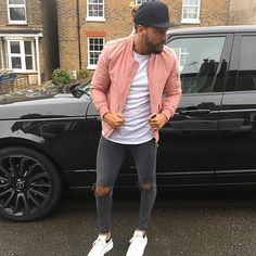 Mario wearing our Grey Ripped Knee Jeans everything is now RESTOCKED ! #heralondon