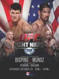 UFC on Fight Night: Bisping vs Munoz – Saturday, October live from Phones Arena in Manchester, England. Ufc Live, Wwe Live Events, Wwe Pay Per View, Ufc Fight Night, Royal Rumble, Video On Demand, Fox Sports, Mma, Cant Wait