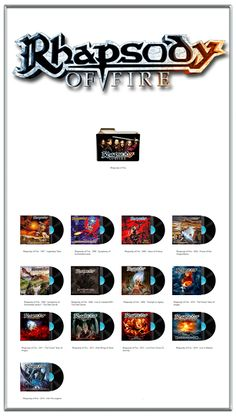 Album Art Icons: Rhapsody of Fire Discography Folders (ICO & PNG)
