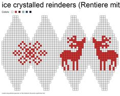 Julekuler - ice crystalled reindeers (Rentiere mit Eisstern) pattern by Jasmin Malekpour-Augustin