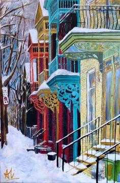 Plateau mont-royal, Montreal, Quebec. - Blank Canvas