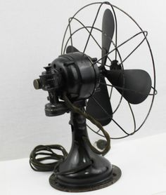 "Antique 1930s Westinghouse 10"" Oscillating Desk Fan, Table Fan, Vintage Fan"
