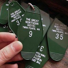 The Great Northern Hotel Key Tag : Greenwich Letterpress #twinpeaks