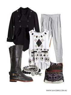 Sancerre Winter 13 - we the military inspired gallia jacket paired with slouchy pants, boots, singlet, saddle bag and fav jewels. Slouchy Pants, Best Yet, Saddle Bags, Winter Outfits, Military, Pairs, Jewels, Inspired, Clothes For Women