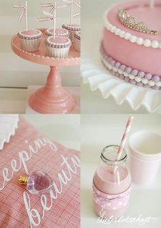 Nice birthday party ideas for almost teen girls. Not for me. Too girly. But it's still a cute idea!