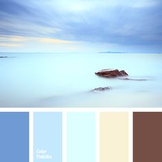 Bright almost acid turquoise shade that is balanced by calm brown-pink shade is the zest of this palette. Palette is very dynamic and lively, all the colou