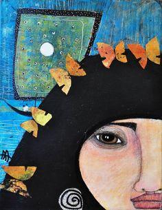 "Saatchi Art Artist almudena arias; Painting, ""ISSAE DREAM"" #art"