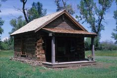 A tiny Settlers cabin in Montana reclaimed and made into a guest retreat...so precious!