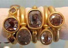 Denise Betesh diamond rings at Mansoor and Gore jewellers