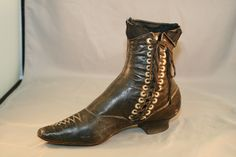 1890s Ornately Appointed Side-Laced Ladies Ankle Boot