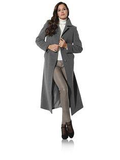 #Ashley #Brooke #Damen #Wollmantel #grau - Klassische Longform in feminin…