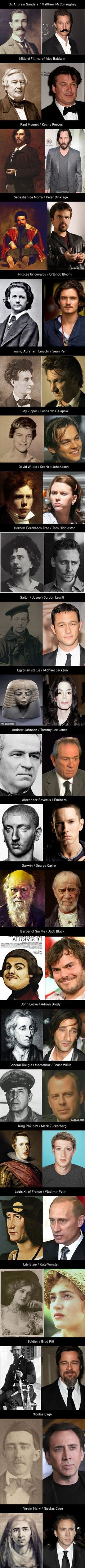 22 Celebrities And Their Historical Twins