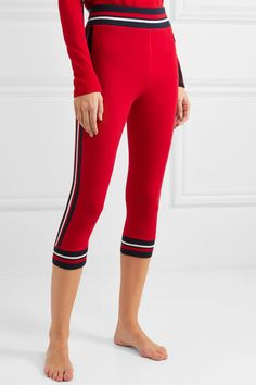 We Norwegians - Voss cropped striped stretch-merino wool leggings Leggings Style, Leggings Fashion, Merino Wool, Fashion Dresses, Products, Fashion Show Dresses, Trendy Dresses, Stylish Dresses, Gadget