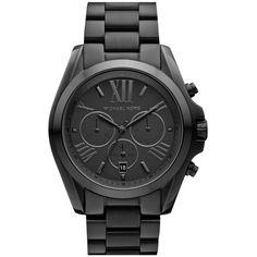 Michael Kors 'Bradshaw' Chronograph Bracelet Watch (245 AUD) found on Polyvore