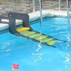 WAG Boarding StepsTM for In-Ground Pools - Model PM-6 (Safety Yellow) *** For more information, visit image link.