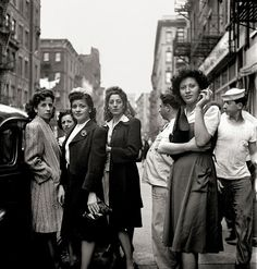 Little Italy, New York City, 1943. Italian sass. Photo by street photographer Fred Stein.