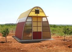 Adob Shelters are prefabricated tiny houses for slum dwellers that can be erected in just one day