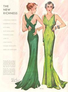 McCall 8109   ca. 1935 Ladies' & Misses' Evening Dress