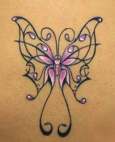 fibro tattoos   fibromyalgia butterfly tattoo Fibromyalgia BUTTERFLY 3 Greeting Cards
