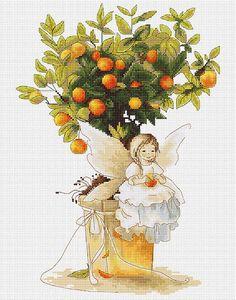 0 petite fée et clémentines - tangerine little fairy by lucas
