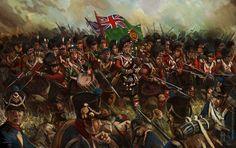 El 79th Highlanders en la batalla de Quatre-Bras, cortesía de Michell Nolte. http://www.elgrancapitan.org/foro/viewtopic.php?f=21&t=11680&p=890350#p890312