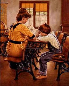 The School House Lesson, by Jim Daly (American, b. 1940)