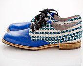 Cross Dot Royal Blue - Shoes