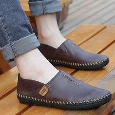 2013 Handmade Gommini Loafers Genuine Leather Shoes Men Fashion Casual ... Shop…
