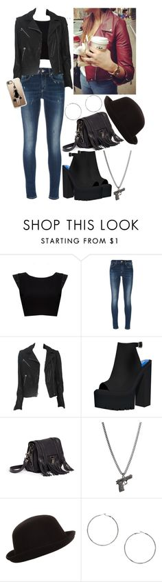 """""""Sin título #2574"""" by agus-lapipita ❤ liked on Polyvore featuring Alice + Olivia, Dondup, rag & bone, Jeffrey Campbell, Proenza Schouler, MANGO and Casetify"""
