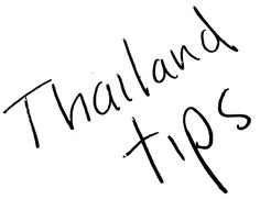 101 tips for living in Thailand