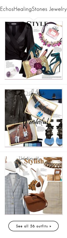 """""""EchosHealingStones Jewelry"""" by selmir ❤ liked on Polyvore featuring items, Emilio Pucci, Alice + Olivia, Imagine by Vince Camuto, Bobbi Brown Cosmetics, Christian Dior, polyvoreeditorial, polyvorefashion, polyvoreset and Alexander McQueen"""