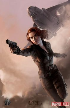 Avengers Official Character Posters || Natasha Romanoff || The Avengers || 510px × 787px || #art