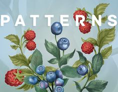 """Check out new work on my @Behance portfolio: """"Berry patterns"""" http://be.net/gallery/58428181/Berry-patterns"""