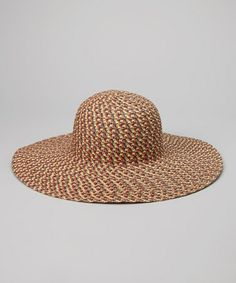 64794c169a Capelli New York Brown   Red Lightweight Sunhat