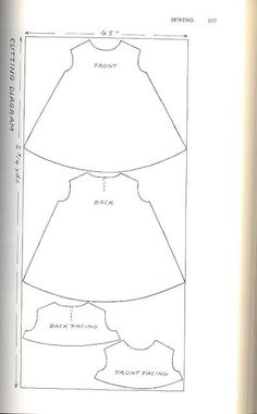 Manic Pop : DIY Trapeze Dress Related posts:How To Wind a Singer Featherweight Bobbin (Getting to Know Your Featherweight, Part to Service a Sewing MachineEKG heart beats for sewing machine embroidery design. Baby Dress Patterns, Baby Clothes Patterns, Baby Doll Clothes, Sewing Clothes, Baby Dress Tutorials, Sundress Pattern, Barbie Clothes, Sewing For Kids, Baby Sewing