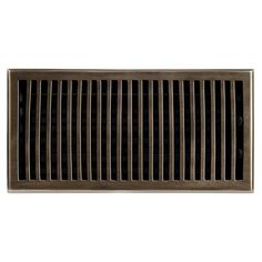 """This antique brass finish solid brass floor register heat vent cover with a contemporary design fits 6"""" x 12"""" x 2"""" duct openings and adds the perfect accent to your home decor."""