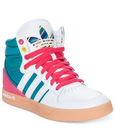 adidas Women's Shoes, Originals Court Attitude Casual Sneakers - Kids Finish Line Athletic Shoes - Macy's