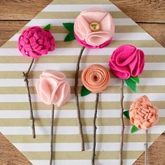 These DIY no sew felt flowers are the perfect homemade gift – and the best part is that they'll never wilt or die!