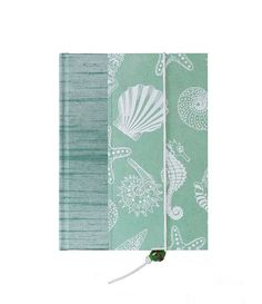 """Lovely cover and book! NEW Address Book """"Sea Shells"""" by WolfiesBindery just $23"""