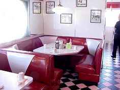 Remember When Diner is a Genuine Old Fashioned Shiny Silver Diner! Try the Soft Cushioned Comfy Corner! In the Background is the Proud Owner, Joe!